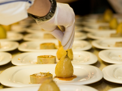 Plating foie