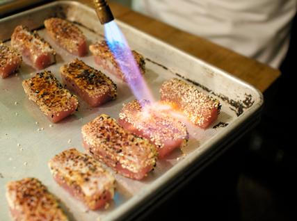 brûléed tuna