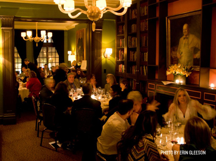 Guests enjoy dinner in the Beard House dining room.