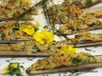 Razor clams appetizer