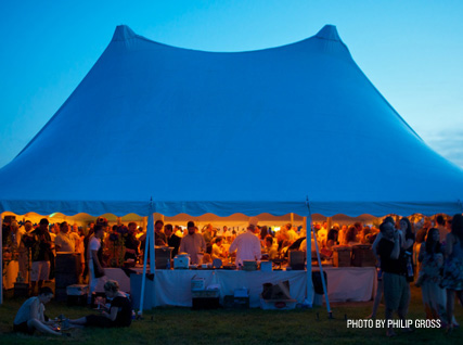 The tent at JBF's Chefs & Champagne.