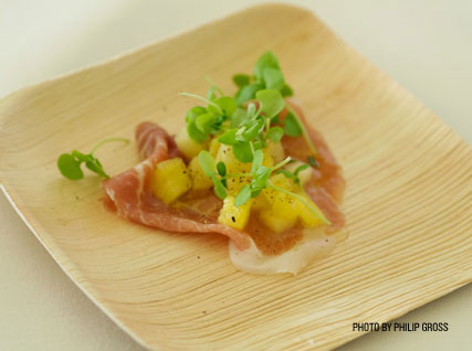 Scott Uehlein's Roasted Pineapple with Prosciutto