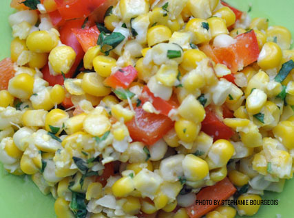 Sautéed Sweet Corn and Red Peppers