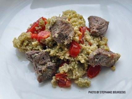 Andrea Beaman's Couscous with Lamb and Mint Dressing