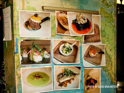 food photos on wall