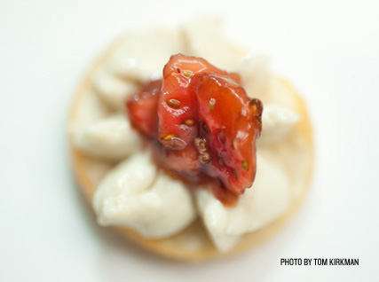 Torchon served at a Beard House dinner.