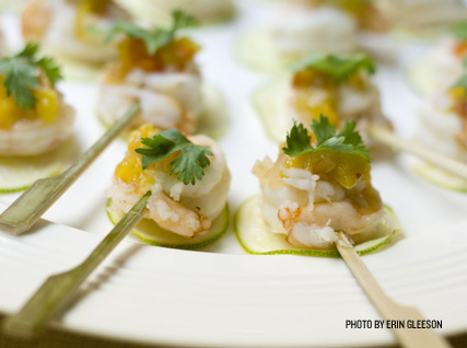 Bites of shrimp served at a recent Beard House dinner.