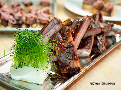 award-winning ribs in the James Beard House kitchen
