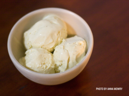 rosemary–brown butter ice cream