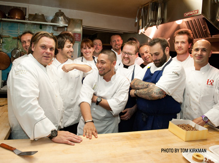 Chef team in Beard House kitchen