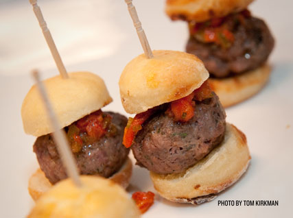 Miniature duck burgers