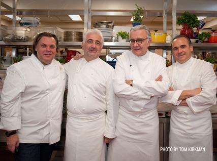François Payard, Guy Savoy, Alain Ducasse, and Jean-Georges Vongerichten