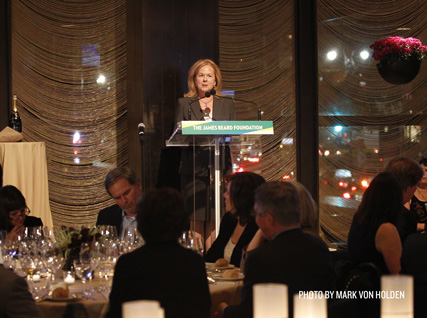 JBF president Susan Ungaro addresses guests