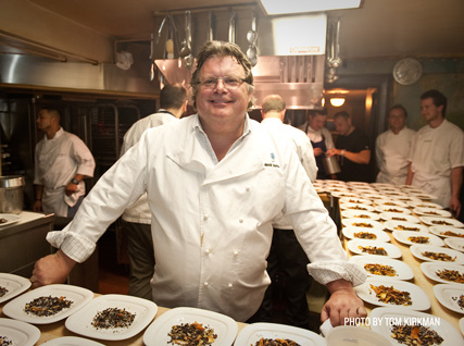 David Burke in the Beard House kitchen