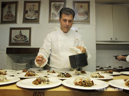 Michael Chiarello in the James Beard House kitchen