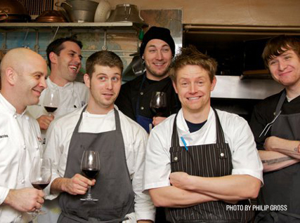 Richard Blais and team in the Beard House kitchen