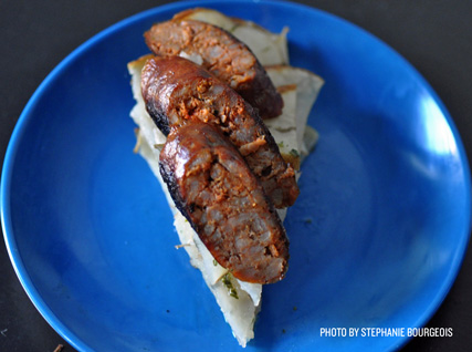 Lester Blumenthal's Grilled Chorizo and Potato Galette