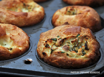 Joseph Margate's Goat Cheese Popovers