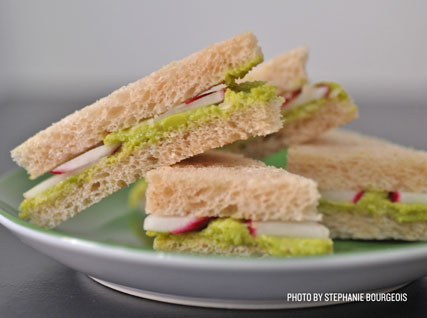 Radish and Fava Bean Tea Sandwiches