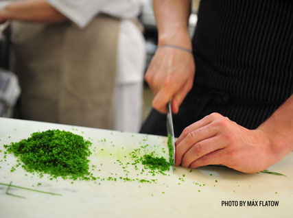 dicing chives