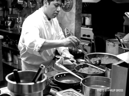 Cooking in the Beard House kitchen