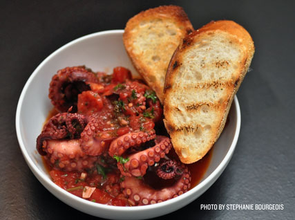 Stewed Octopus with San Marzano Tomatoes
