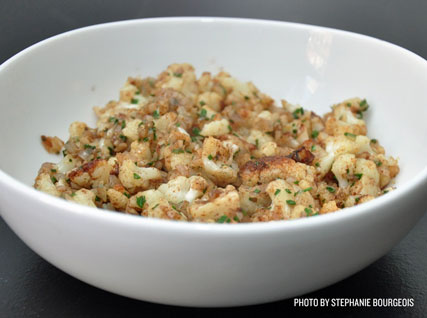 brown butter cauliflower
