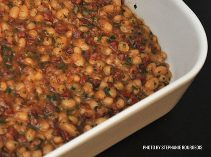 Salumi-Braised Beans