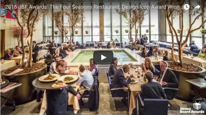 2016 James Beard Foundation Design Icon Award The Four Seasons
