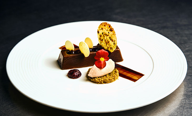 Milk Chocolate–Pistachio Terrine by the Art Institutes