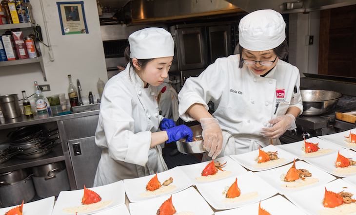 Volunteers in the Beard House kitchen Photo by Jeff Gurwin