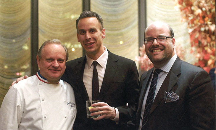Joel Robuchon, Adam Rapoport, and Mitchell Davis at the JBF Gala 2010