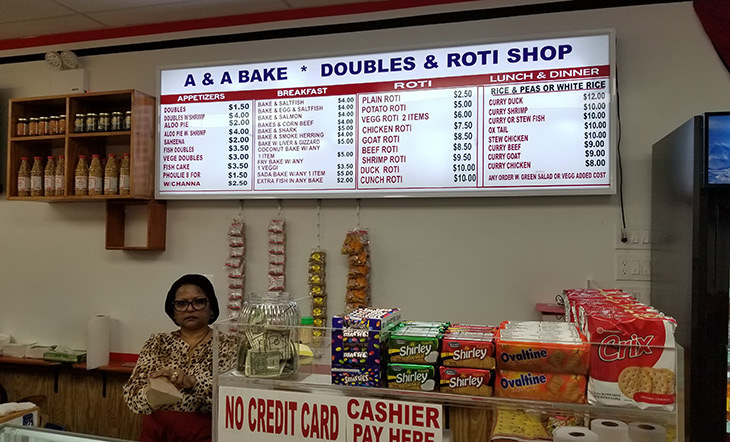 A&A Bake & Doubles and Roti Shop