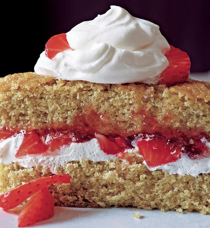 Alice Medrich's oat flour fruit basket cake (photo: Leigh Beisch)