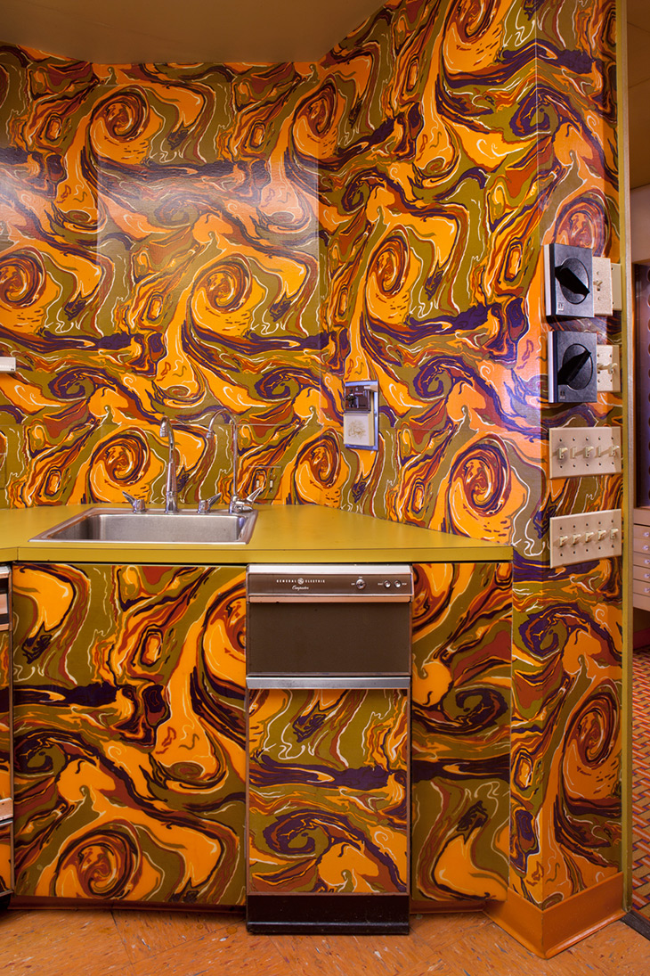 Customized GE appliances in the Johnson Publishing test kitchen ©Barbara Karant
