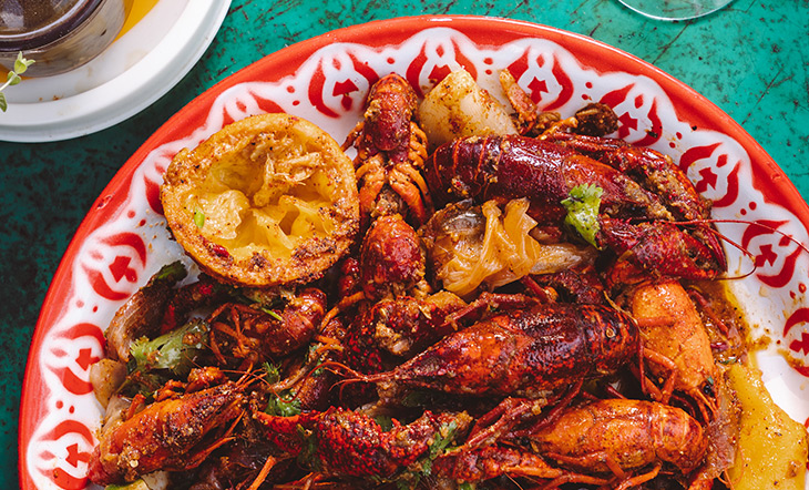 Crawfish from Marjie's Grill photo courtesy of Marjie's Grill