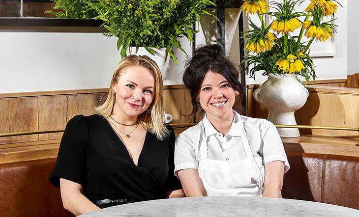 Cafe Altro Paradiso General Manager Kelsey Shawand Natasha Pickowicz photo by Heidi's Bridge