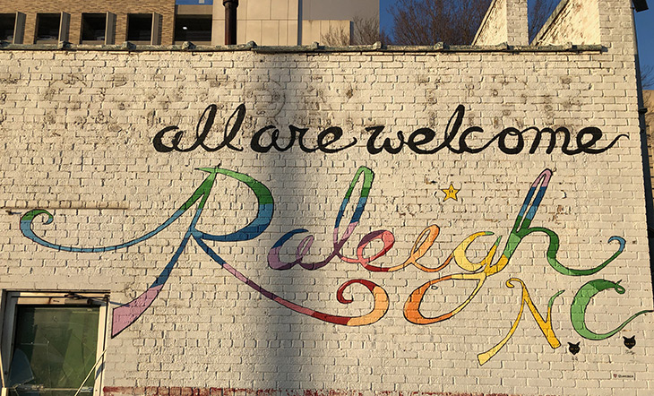 All Are Welcome Raleigh NC photo by Luke Miller Buchanan