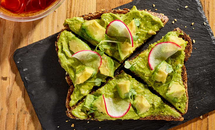 Hilltop Coffee Avocado Toast photo by Ed Rudolph Photography
