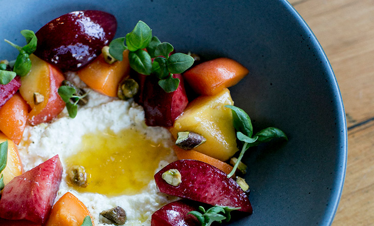 Ricotta with Stone Fruit Sawyer photo by Brooke Fitts Photo