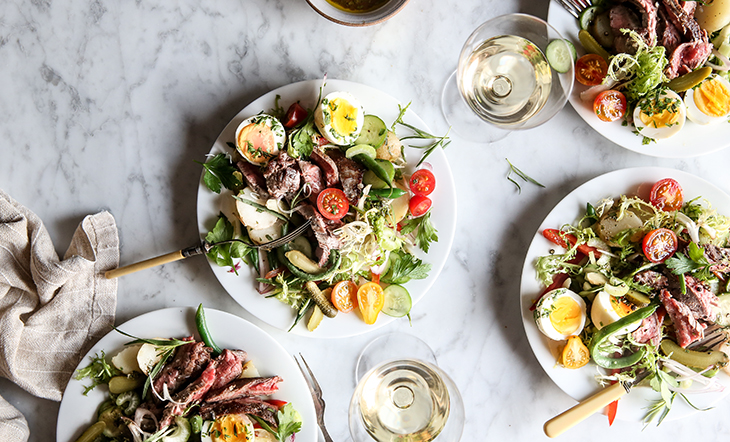 James Beard's Beef Salad Parisienne photo and styling Judy Kim