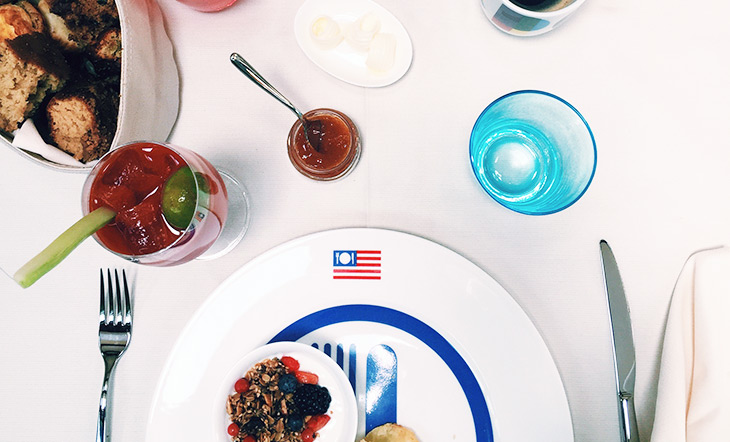 Brunch at the USA Pavilion at the 2015 Expo Milano