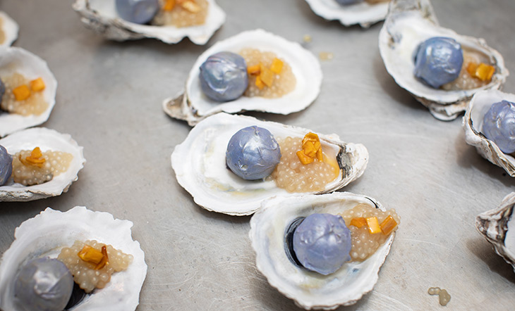 Oyster dessert photo Clay Williams