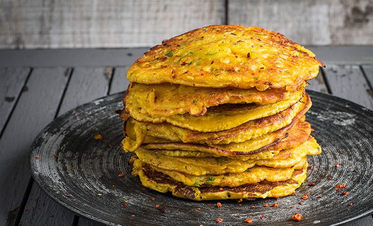 Turmeric pancakes from Zaika photo Seven Dials