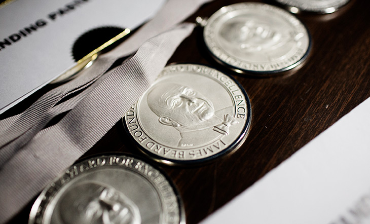 James Beard Awards medallions photo by Eliesa Johnson