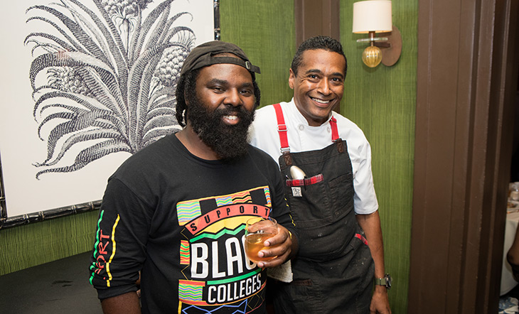 Omar Tate and Chris Scott at the Beard House photo by Clay Williams