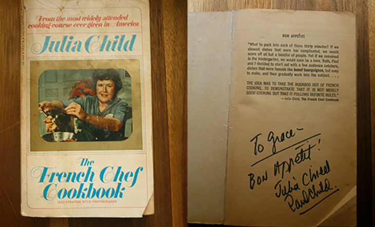 Autographed French Chef Cookbook photo courtesy of Grace Young
