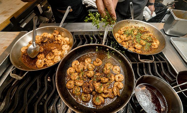Cooking shrimp photo Eric Vitale