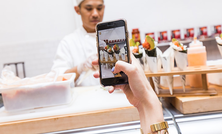 Taking photo of food with iPhone (photo: Jeff Gurwin)