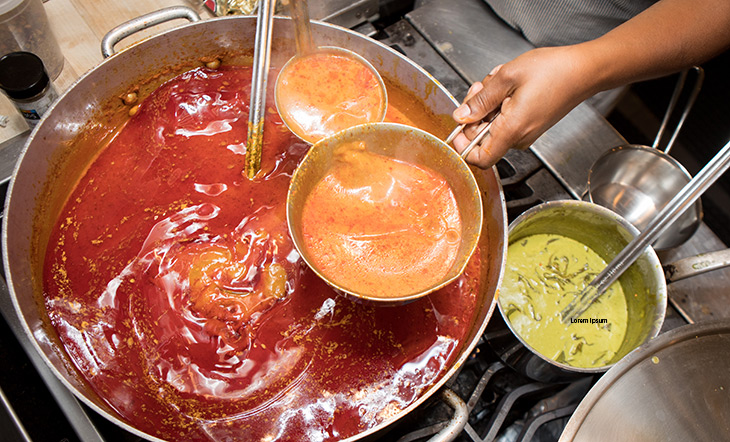 Cooking soup in the Beard House kitchen photo Clay Williams